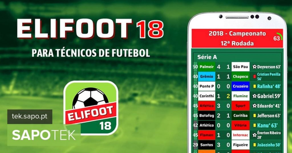 """Elifoot 18: the classic """"manager"""" Portuguese is back - Android"""