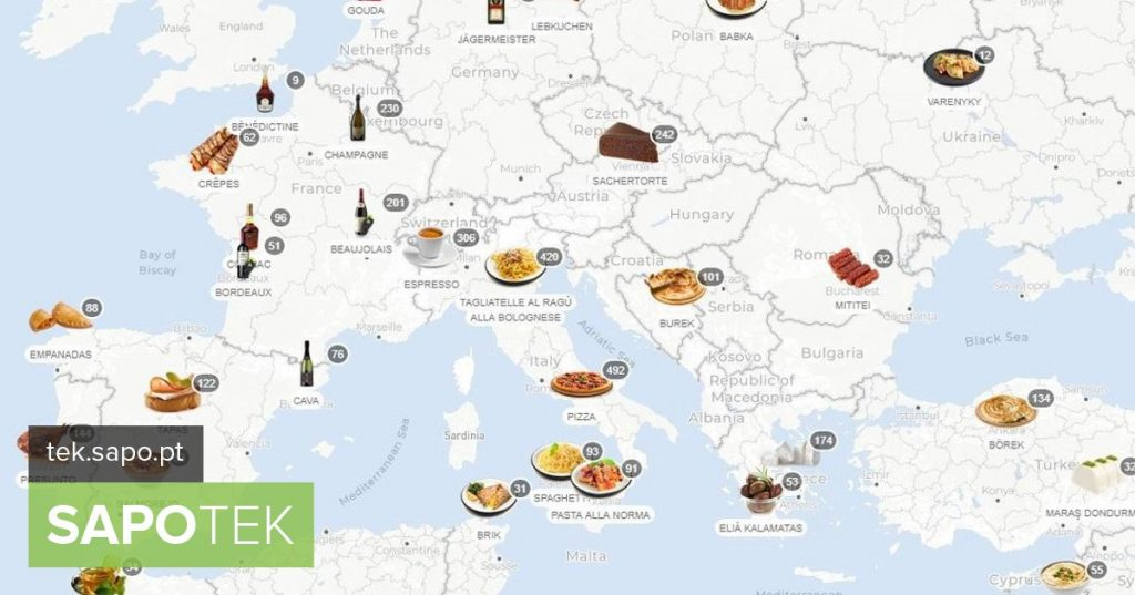 This map shows you what is eaten in every corner of the world ... or almost - Site of the day