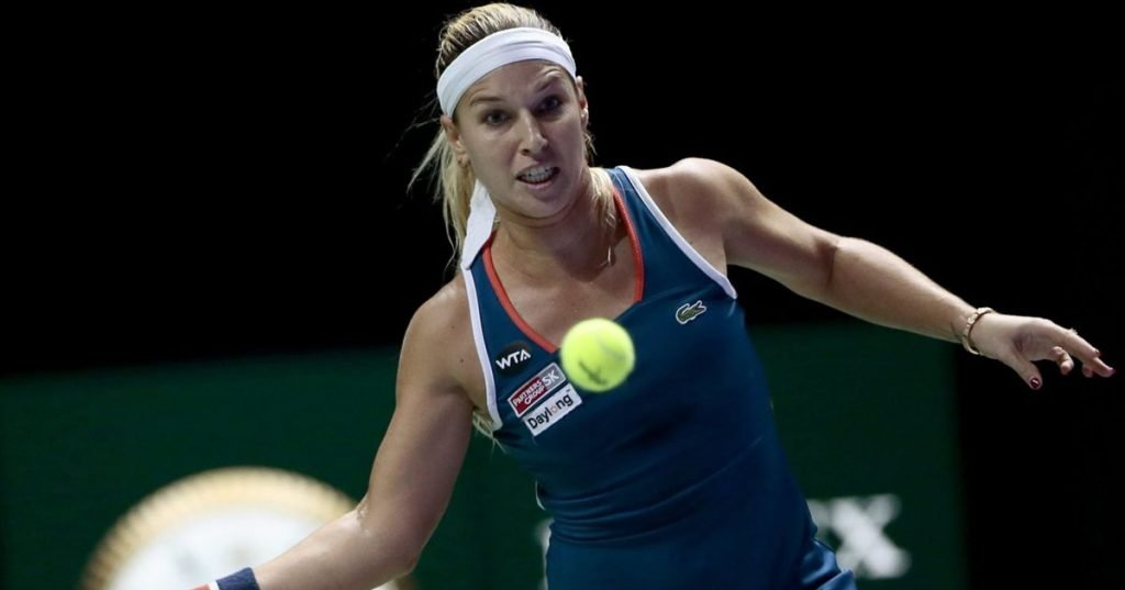 Angelique Kerber and Bianca Andreescu in the Indian Women's Final
