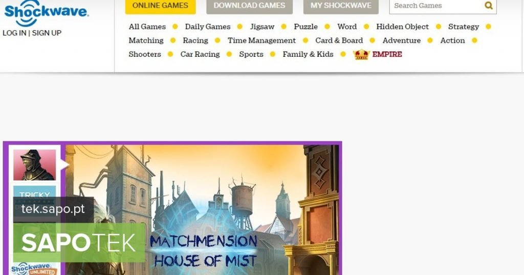 Hundreds of games developed with shockwave are available on this site - Site of the day