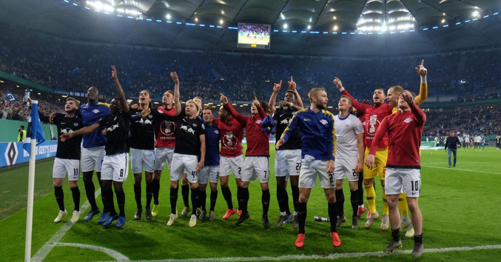 Leipzig eliminate Hamburg and are in the final of the German Cup