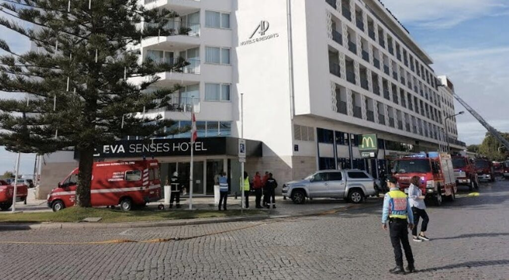 Simulacro tested fire response at a Faro hotel unit - Jornal diariOnline South Region. Your Algarve & Alentejo Portugal news portal