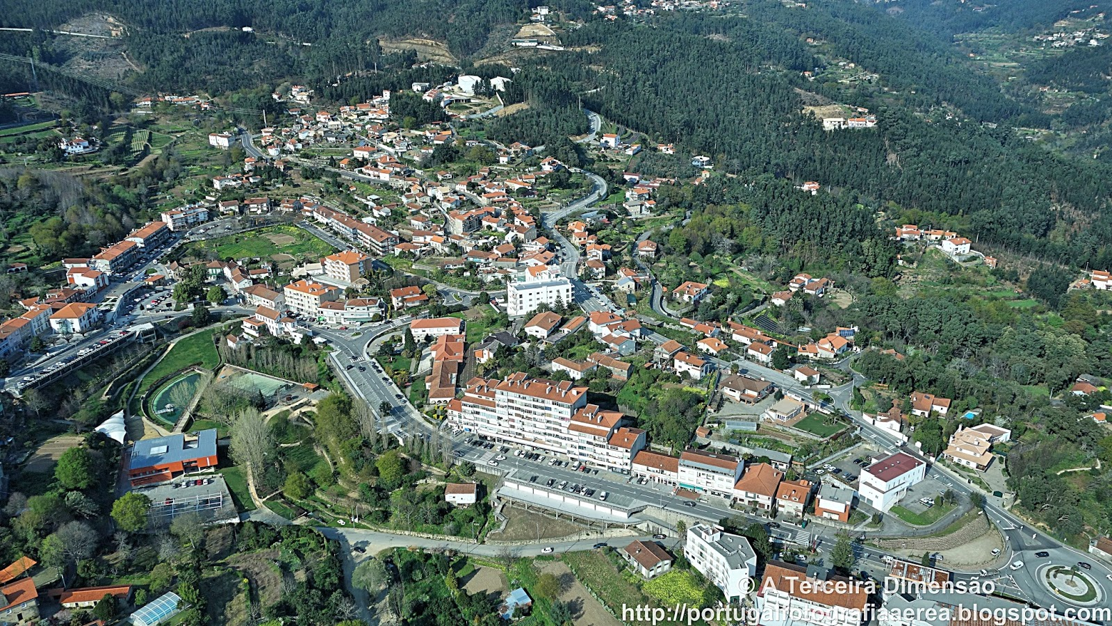 Sever do Vouga aerial view