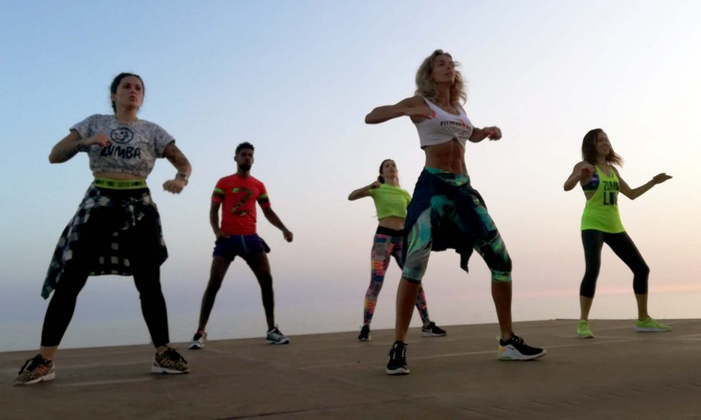 Fitness featured in the online training program