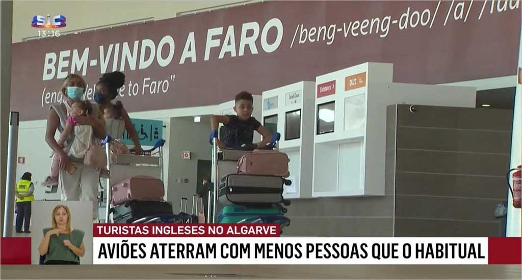 British tourists in the Algarve criticize the Government's decision