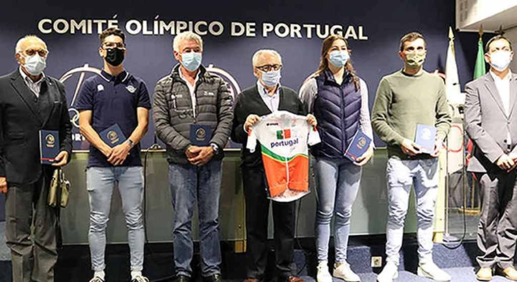 Algarve cyclist Daniela Campos was received at the Olympic Committee of Portugal