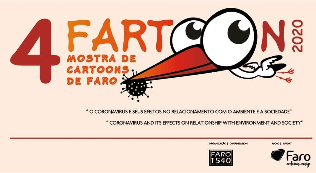 Coronavirus is the theme of the 4th FARTOON - Faro Cartoons Show