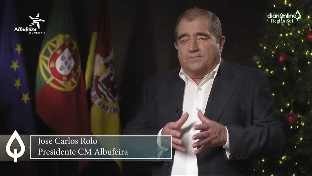 Christmas and New Year message from the Mayor of Albufeira, José Carlos Rolo