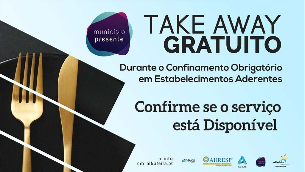 Albufeira extends free take-away service