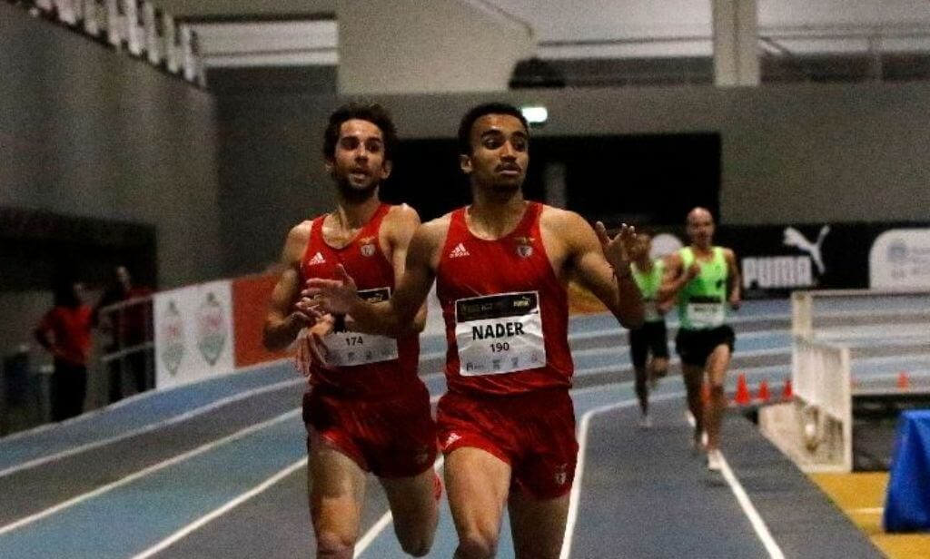 Algarvios Isaac Nader and Edna Barros champions of Portugal indoor track