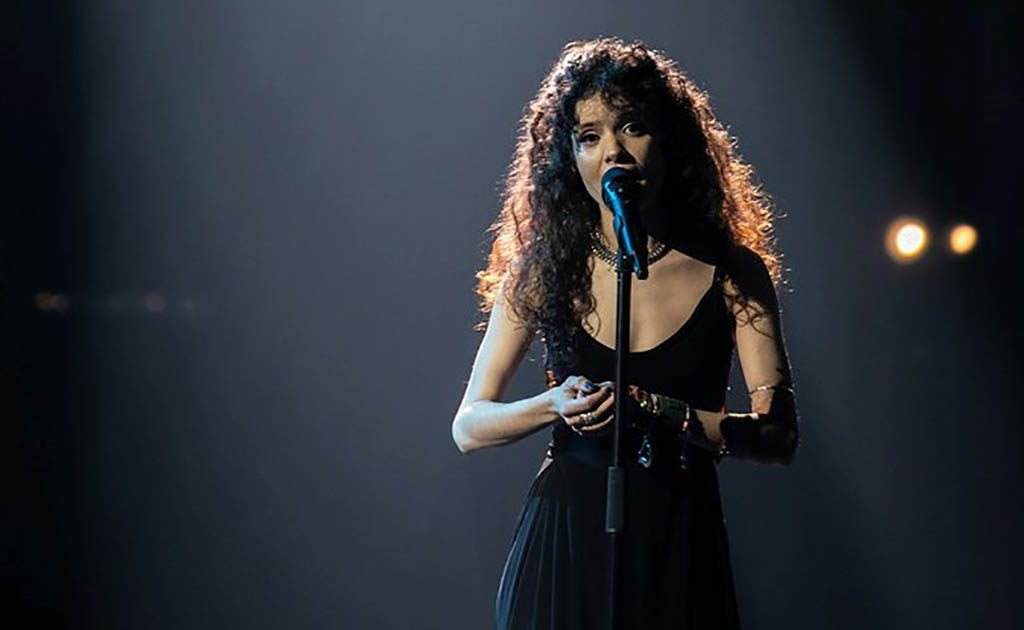 Sara Afonso from Quarteirense in the final of the Song Festival